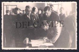 REAL PHOTO POSTCARD PORTUGAL MADEIRA FUNCHAL TOMADA DE POSSE GOVERNADOR DANIEL BARBOSA - FOTO PERESTRELLOS - 1945 - Madeira