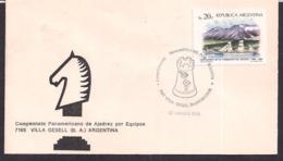 Argentina - 1985 - Cachets Spéciaux - Championnat Panaméricain Par équipe D'échecs - Schach