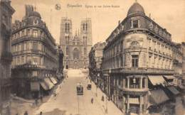 BRUXELLES - Eglise Et Rue Sainte-Gudule - Avenues, Boulevards