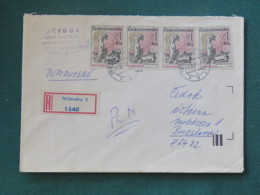 Czechoslovakia 1987 Registered Cover To Local - Destruction Of Lidice WW II - Czechoslovakia
