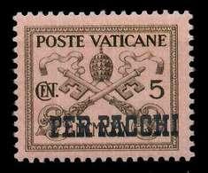 VATIKAN PAKETMARKEN Nr 1 Postfrisch X7C4AFA - Paquetes Postales