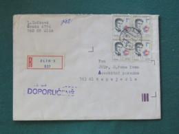 Czechoslovakia 1990 Registered Cover To Local - Jan Opletal Nazi Victim - Czechoslovakia