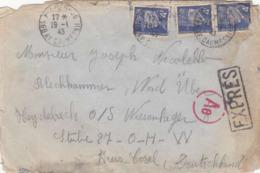 ♦  -  FRANCE: LSC -OBLITERAT. MANU.PARIS. EXPRESS - 19/01/1943- CENSURE ALLEMANDE AE- CENSEUR N°383 - France