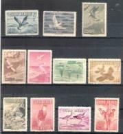 575  Oiseaux - 1956 - Yv A 135-45 - Sans Gomme - Cb - 9,75 - Non Classés