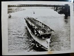 PHOTO Presse : PORTE AVIONS ** LANGLEY ** à NEW YORK _ 1927 - Guerra, Militares