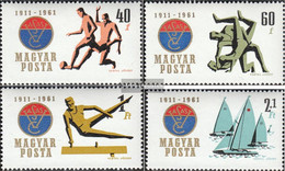 Hungary 1772A-1775A (complete Issue) Unmounted Mint / Never Hinged 1961 Eisenarbeiter-Sportclub - Hungary