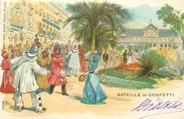 """CPA FRANCE 06 / CARTE PRÉCURSEUR """"Nice, Le Carnaval, Bataille De Confetti"""" - Carnaval"""