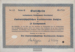 German Empire 15 Reichsmark, Gutschein Very Fine 1934 Landwirts. Kreditverein Saxony - Unclassified