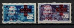 A E F         N°  YVERT  :  165/166   NEUF AVEC  CHARNIERES      (  CH  02/40 ) - A.E.F. (1936-1958)