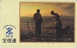 Télécarte Japon / 110-183170 - PEINTURE FRANCE - J-F MILLET / L'ANGELUS Louvre - Japan Painting Phonecard - 1825 - Pittura