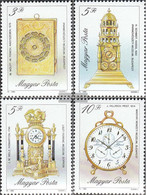 Hungary 4120A-4123A (complete Issue) Unmounted Mint / Never Hinged 1990 Old Watches - Hungary