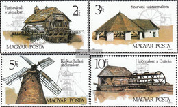 Hungary 4028A-4031A (complete Issue) Unmounted Mint / Never Hinged 1989 Old Mills - Hungary