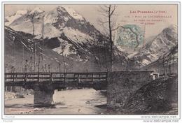 DA9-  65)  PONT DE LOUDENVIELLE ET FOND DU LOURON - VUE D'HIVER - PHOTOTYPIE LABOUCHE FRERES - Frankreich