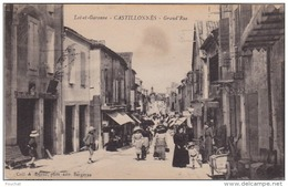 EB5- 47) CASTILLONNES (LOT ET GARONNE) GRAND ' RUE - (TRES ANIMÉE - 2 SCANS) - Sonstige Gemeinden