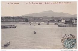 EB27- 64) SAINT JEAN DE LUZ (LA COTE BASQUE) LE PORT , LES PONTS , LA NIVELLE ET LA RHUNE - Saint Jean De Luz
