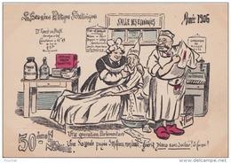H2- POLITIQUE - ILLUSTRATEUR FLEURY - 50 ° SEMAINE POLITIQUE SATIRIQUE - ANNEE 1906 - (2 SCANS) - Satira