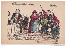 H2- POLITIQUE - ILLUSTRATEUR FLEURY - 52 ° SEMAINE POLITIQUE SATIRIQUE - ANNEE 1906 - (2 SCANS) - Satira
