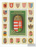 Hungary Block211a (complete Issue) Unmounted Mint / Never Hinged 1990 New State Emblem - Blocks & Sheetlets
