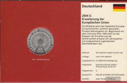 FRD (FR.Germany) Jägernr: 506 2004 G Stgl./unzirkuliert Silver 2004 10 Euro European Union-Extension - Germany