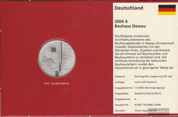 FRD (FR.Germany) Jägernr: 505 2004 A Stgl./unzirkuliert Silver 2004 10 Euro Bauhaus Dessau - Germany