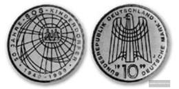 FRD (FR.Germany) Jägernr: 472 1999 J Stgl./unzirkuliert Silver 1999 10 DM Children's Villages - [10] Commemorations