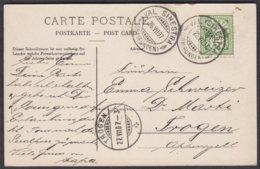 GR    VAL SINESTRA  -  TROGEN  - AK SCHLOSS TSCHANUFF BEI REMUS - 1882-1906 Wappen, Stehende Helvetia & UPU