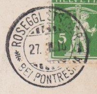 GR    ROSEGGLETSCHER  - SELTENER STEMPEL - Briefe U. Dokumente