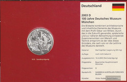 FRD (FR.Germany) Jägernr: 497 2003 D Stgl./unzirkuliert 2003 10 Euro 100 Years German Museum - Germany