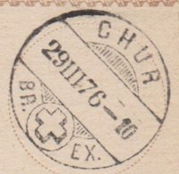 GR     CHUR - SAUBERER STEMPEL - 1862-1881 Sitted Helvetia (perforates)