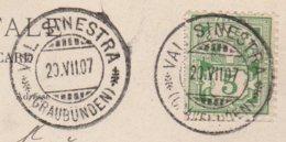 GR   VAL SINESTRA  /  AK VOM KURHAUS VAL SINESTRA - 1882-1906 Armoiries, Helvetia Debout & UPU