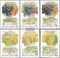 Hungary 4101A-4106A (complete Issue) Unmounted Mint / Never Hinged 1990 Wines And Weinanbaugebiete - Hungary