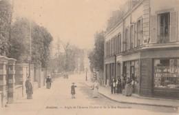 U10-92) ASNIERES - ANGLE DE L'AVENUE FLACHAT ET DE LA RUE PARMENTIER- (ANIMEE - EPICERIE - 2 SCANS) - Asnieres Sur Seine