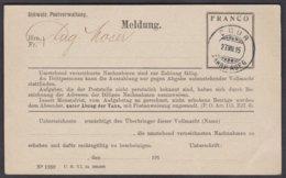 GR CHUR - NACHNAHME MELDESCHEIN - Covers & Documents