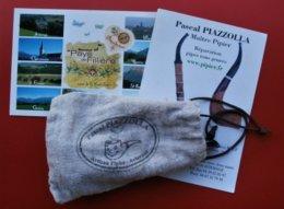 74 AVIERNOZ  Lot  Pipe, Etui, Cartes Postales, Autographe Pascal PIAZZOLA  Artisan Pipier - Pipes En Bruyère