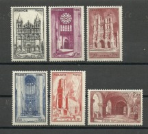 FRANCIA 1944 YT 661+663/667 Turismo ** MNH - France