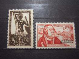 VEND BEAUX TIMBRES D ' ALGERIE N° 332 + 333 , XX !!! - Ongebruikt
