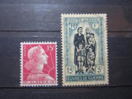 VEND BEAUX TIMBRES D ' ALGERIE N° 329 + 330 , XX !!! - Unused Stamps