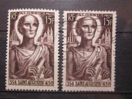 VEND BEAUX TIMBRES D ' ALGERIE N° 318 X 2 : XX + OBLITERE !!! - Unused Stamps