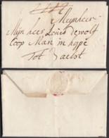 """BELGIQUE LETTRE DE LIERRE """" LIERRE EN CREUX"""" VERS ALOST (BE) DC-4663 - 1830-1849 (Independent Belgium)"""
