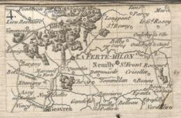 24863 - LA FERTE MILON  1780 - Geographical Maps