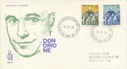 ITALIA - FDC VENETIA 1972 - DON LUIGI ORIONE - VIAGGIATA PER VENEZIA - 6. 1946-.. Republic