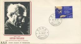 ITALIA - FDC TRE STELLE 1967 - TOSCANINI - MUSICA - 6. 1946-.. Republic