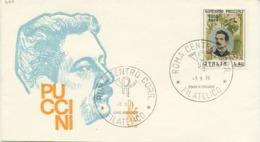 ITALIA - FDC VENETIA 1974 - GIACOMO PUCCINI - MUSICA - 6. 1946-.. Republic