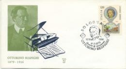 ITALIA - FDC ALA 1979 - OTTORINO RESPIGHI - MUSICA - 6. 1946-.. Republic