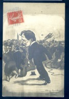 """Cpa Carte Photo Réponse De Robert Nanteuil à Mr Gassier Redacteur à L' Humanité Paris """" à Mr Robert Nanteuil Tolem"""" LZ93 - Satirical"""
