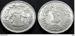 EGYPT - 10 PIASTRES - 1974 - KM 442 - UNC - 1st Aniversary Of Octobre War - Egypt