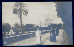 Cpa Carte Photo Du Vatican Le Pape Pie IX Dans Les Jardins  LZ93 - Vatican
