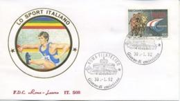 ITALIA - FDC ROMA LUXOR 1992 - ATLETICA LEGGERA - SPORT - 6. 1946-.. Republic