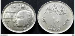 EGYPT - 10 Piastres - Km 470- 1977 - Corrective Revolution - Egypt