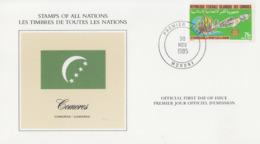 Carte   1er  Jour   COMORES    20éme  Anniversaire   Du    ROTARY   CLUB   De   MORONI    1985 - Rotary, Club Leones
